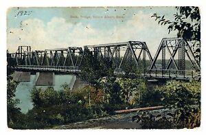 1920-039-s-Sask-Bridge-Prince-Albert-Saskatchewan-Canada-Postcard