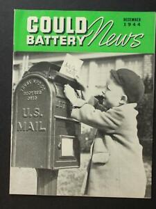 1944-1945 GOULD BATTERY NEWS MAGAZINE ~ BULLETIN ~ COVER LETTER