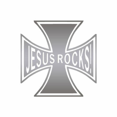 ebn408 Jesus Rocks Cross Multiple Color /& Sizes Vinyl Decal Sticker