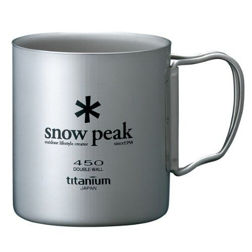 Snow Titanium peak MG-053R Titanium Snow TI-DOUBLE 450 MUG from Japan 4b9511