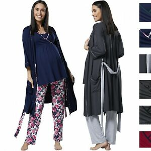 6109d78195566 Happy Mama Women's Maternity Nursing 3pcs Nightwear Set: Pants – Top ...