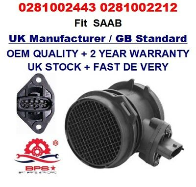 YS3D 2.2TiD Mass Air Flow meter sensor 0281002443 0281002212 for SAAB 9-3