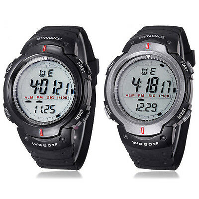 New Waterproof Outdoor Sports Men Digital LED Quartz Alarm Wrist Watch Gift