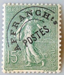"France Preoblitere Timbre Stamp N° 45 "" Semeuse Lignee 15c Olive "" Neuf (x) Tb AgréAble à GoûTer"