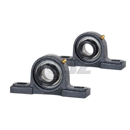 2x 1 in Pillow Blocks Cast Iron SAP205-16 Mounted Bearing SA205-16G+P205 New