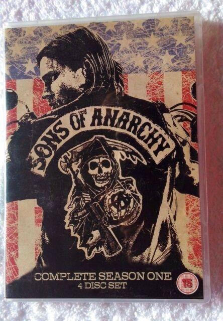 SONS OF ANARCHY-SEASON ONE (DVD, 4-DISC SET) REGION-2, LIKE NEW, FREE POSTAGE