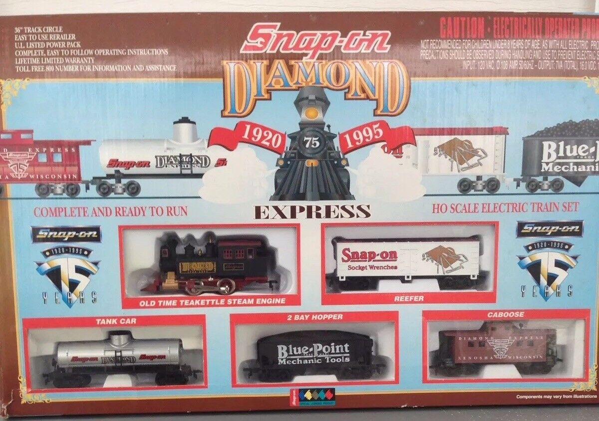 Snap On strumentos da collezione 75th ANNIVERSARIO SCALA HO Diamond EXP Treno RARA VNTG
