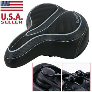 Comfort-Wide-Big-Bum-Bike-Bicycle-Gel-Cruiser-Extra-Sporty-Soft-Pad-Saddle-Seat