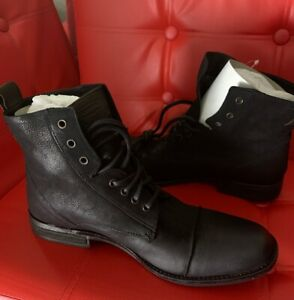 levis mens black leather casual dress boots shoes  ebay