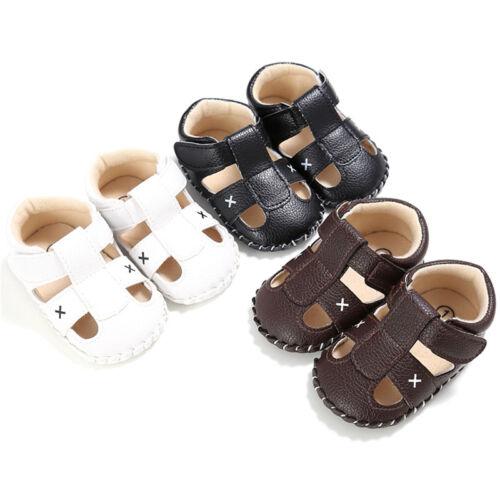 Infant Toddler Baby Boy Soft Shoes Sole Crib Sandals Sneaker Newborn 0-18 Months
