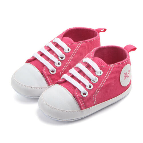 Infant Toddler Sneakers Newborn to 18Months Baby Boys Girls Soft Sole Crib Shoes