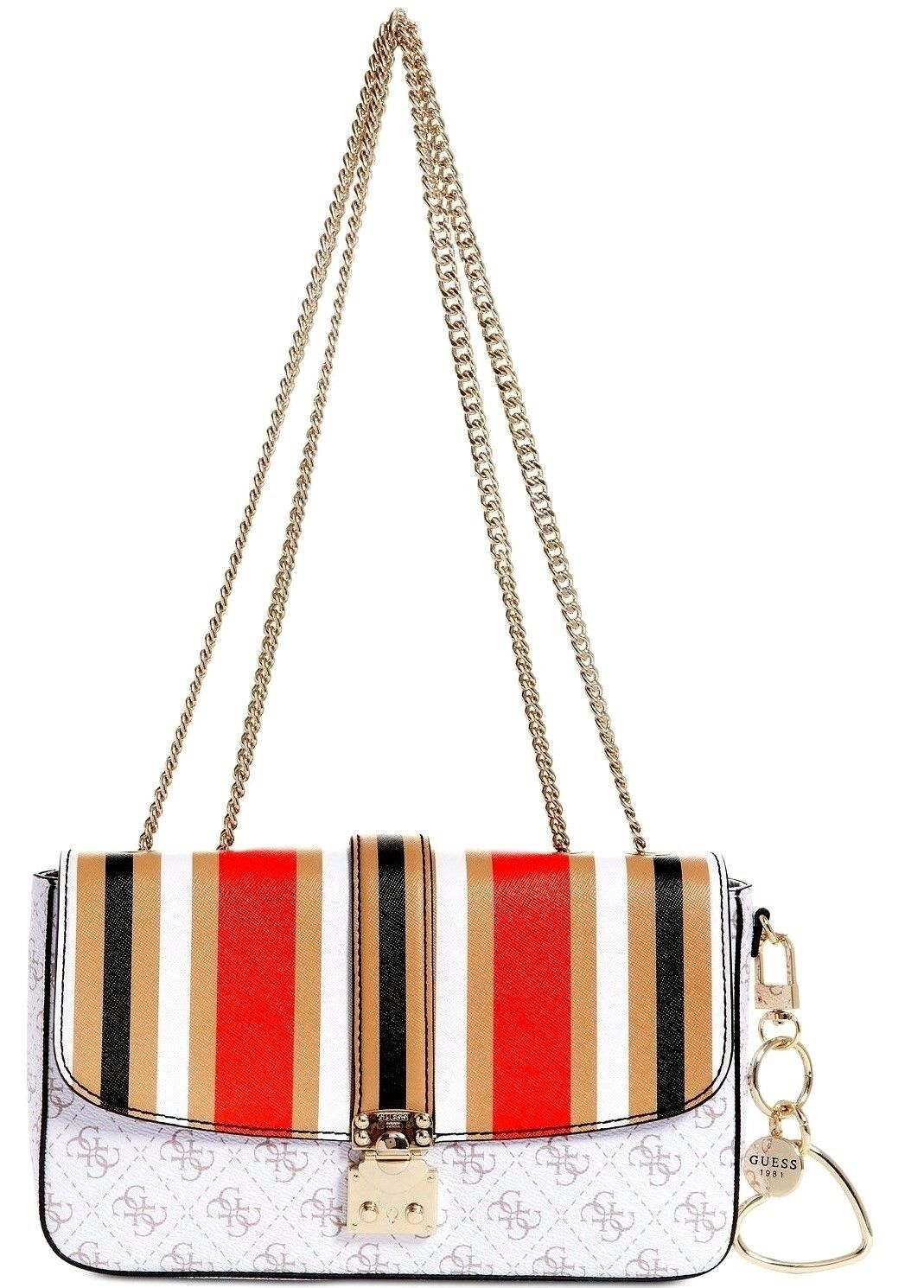 85a0ee3932b0 GUESS Joslyn Signature Shoulder Bag Small Multi Color for sale ...
