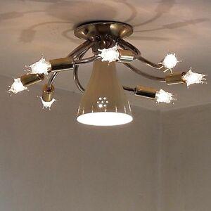 Details About 503b 50s 60s Vintage Sputnik Ceiling Light Lamp Fixture Atomic Midcentury Eames