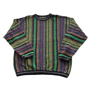 VTG 90s Seven Oaks Canada COOGI Typ 3d Knit Multi Color Bill Cosby Pulli Large