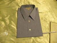 Haband Men's Shirt Short Sleeve Blue And White Size 18