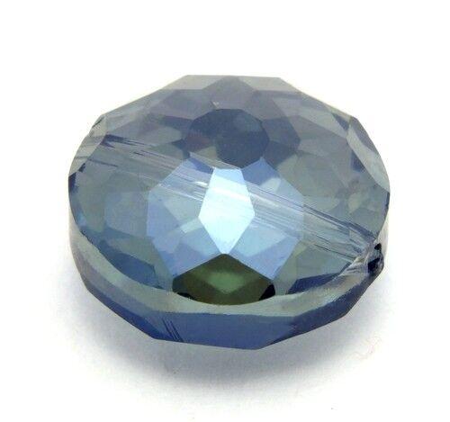 14 x 9mm azul gris 1 vidrio esmerilado-rondell B aprox
