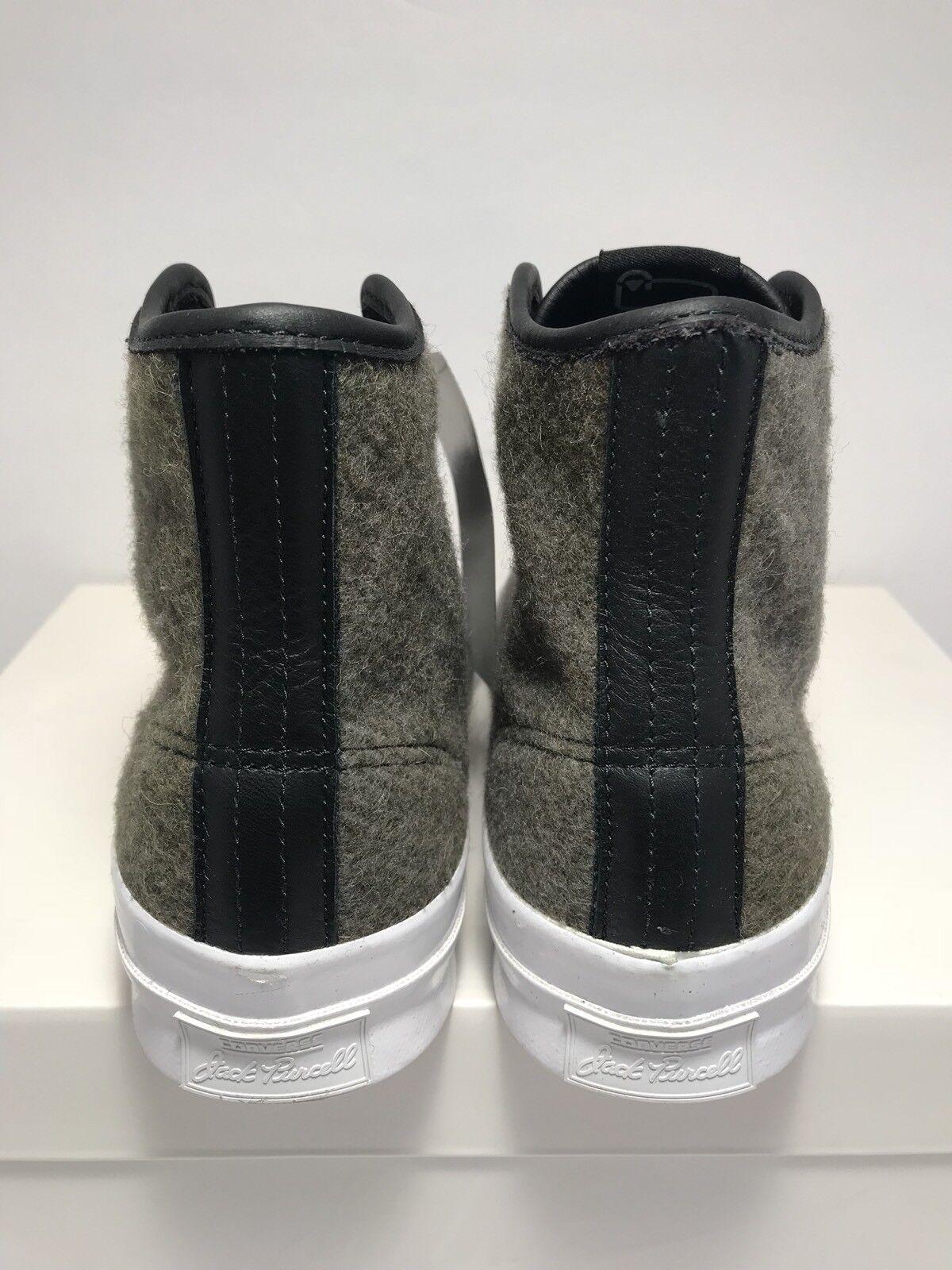 Converse - mens größe 10 stiefel jack purcell woolrich street stiefel 10 wolle neue weiß - schwarz 73fa6a