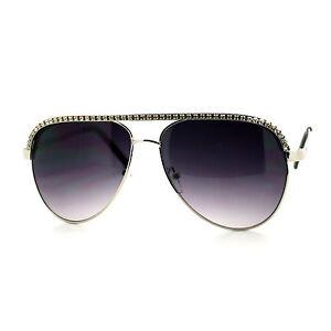 2578d57b123 Image is loading RHINESTONE-TOP-Celebrity-Women-039-s-AVIATOR-Sunglasses-