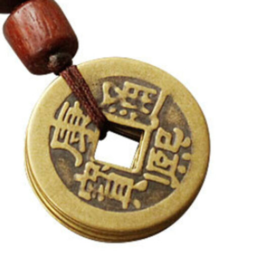 Five Emperor Money Lucky Charm Copper Coin Keychain Decoration Pendant LC