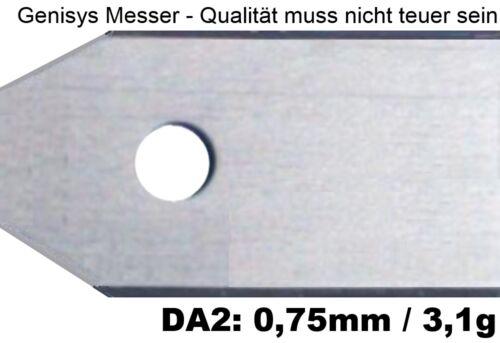 30 remplacement-couteau de qualité lames Gardena sileno 0,75mm 3,1g vis