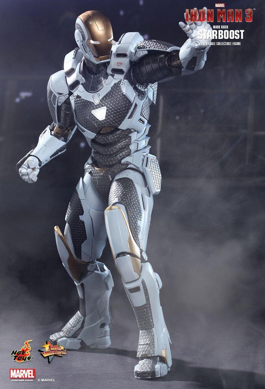1 6 Hot Juguetes MMS214 Iron Man 3 Estrellaboost MK39 Mark Xxxix obra maestra Figura Nueva