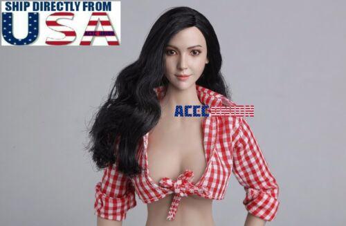 """1//6 Asian Female Head Sculpt un pour 12/"""" PHICEN Hot Toys figure féminine USA Vendeur"""