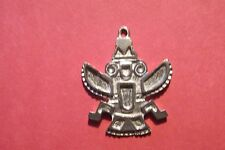 Six Pewter Eagle Totem Pendants