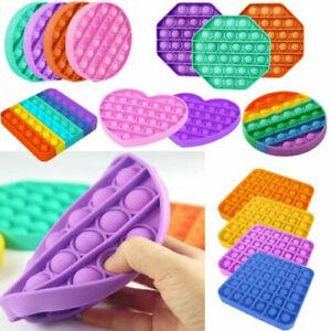 Pop it Square Fidget Toy Push Bubble Stress relief Kids tiktok Family games 2021