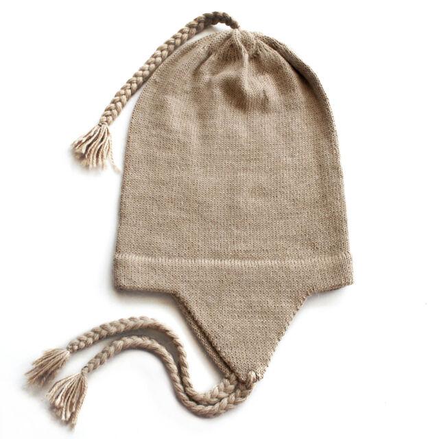 9662a7b7478 100 Alpaca Wool Chullo Beanie Hat LT Beige One Size Women Men ...