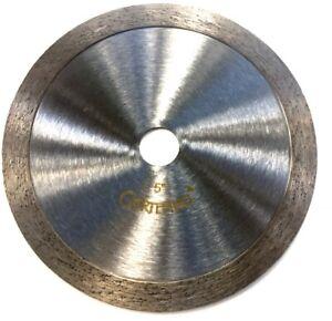 """5"""" Continuous Rim Cutting Diamond Tile Blade Granite stone Porcelain 5//8/'/' arbor"""