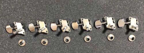 Peavey Chrome Guitar Metal Machine Tuner Heads NOS Set Of 6