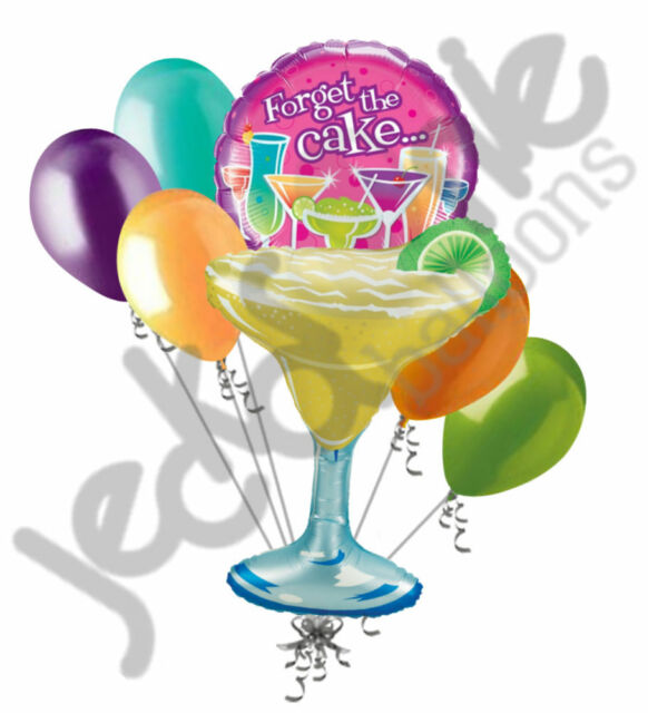 Surprising 7 Pc Margarita Forget The Cake Cocktails Birthday Balloon Bouquet Birthday Cards Printable Giouspongecafe Filternl