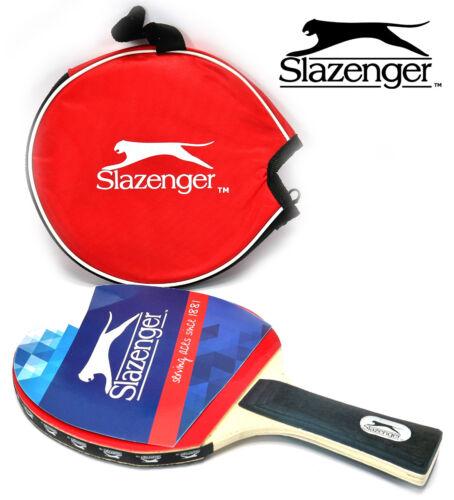 Slazenger Tischtennisschläger mit Tasche Tischtennis Schläger Sport Spiel Tennis