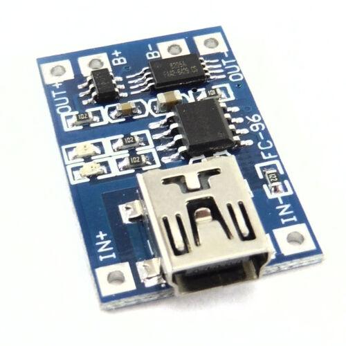 2x 18650 5V Mini USB Caricabatteria al Litio Board Modulo 1A