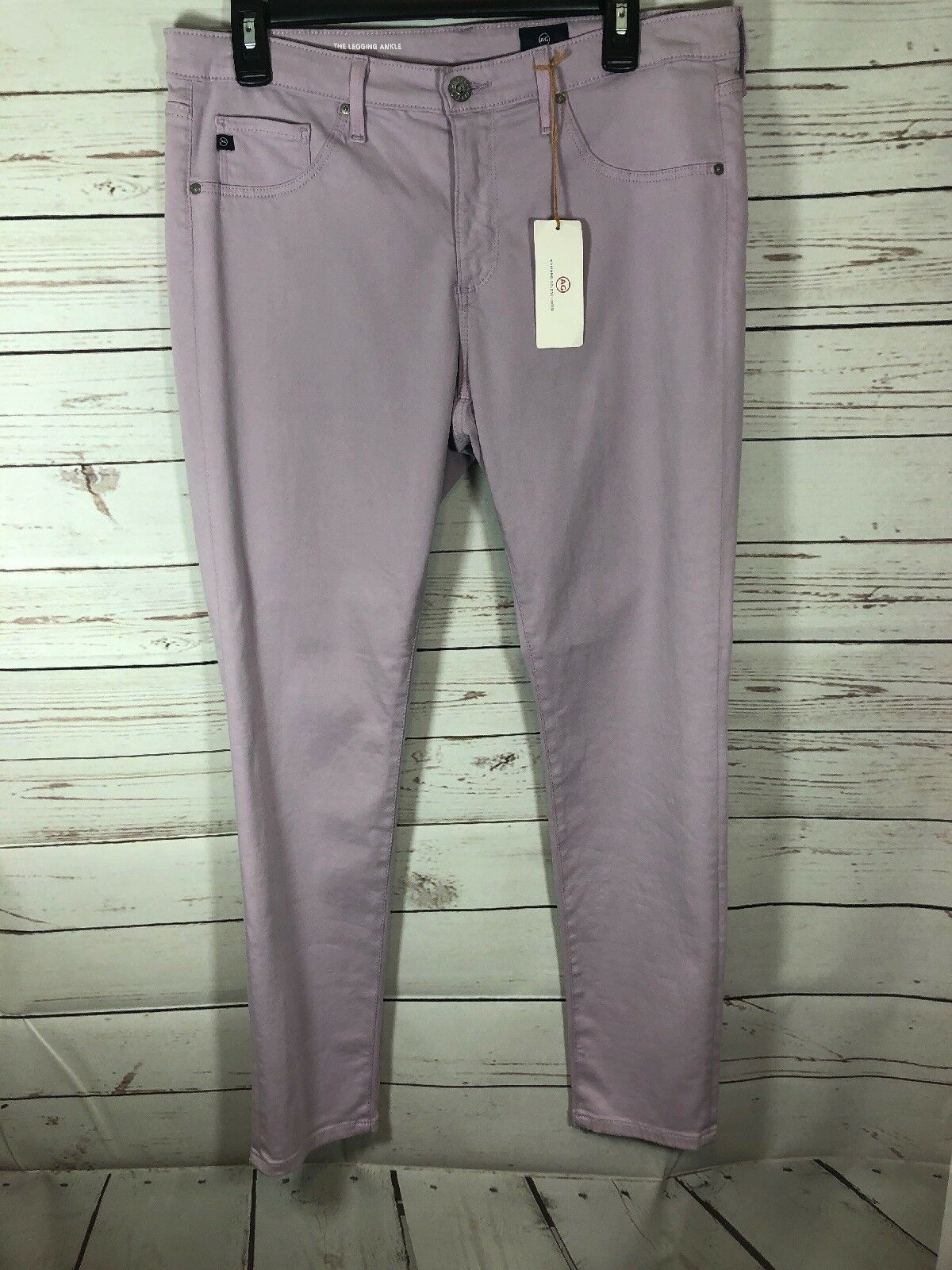 NWT AG Adriano goldschmied THE LEGGING ANKLE SUPER SKINNY Purple ANKLE 31