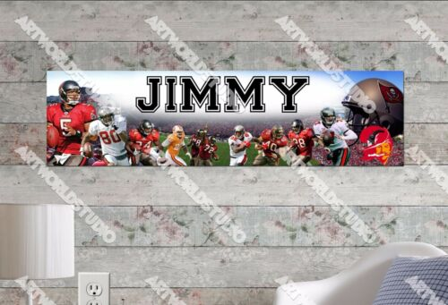 Personalized//Customized Tampa Bay Buccaneers Name Poster Wall Art  Banner
