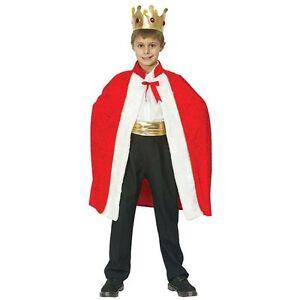 Victorien-Roi-Robe-amp-Couronne-Nativite-Royal-Tudor-Noel-Deguisement-Enfant