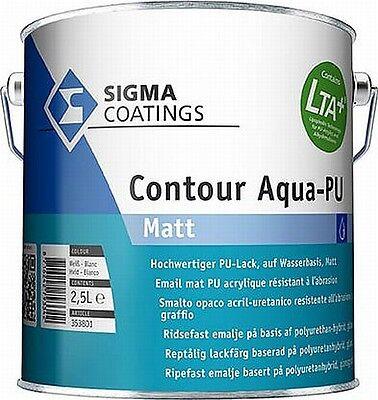 Clever Sigma Contour Aqua-pu Matt Weiß 2,5 Liter Zur Verbesserung Der Durchblutung Baustoffe & Holz Fassade