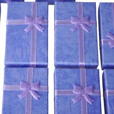 12x Purple Card Jewelry Gift Box for Pendant Bracelet Bangle Earring Wedding LW