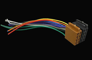 Universal ISO Wiring Harness Car Stereo Adapter Connector ... on plug to speaker wire adapter, sony car stereo wiring adapter, wiring harnes adapter, chevy radio wiring adapter, radio wiring harness product, radio wiring harness color code,