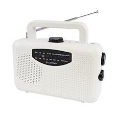 Lloytron N2403 Mains Or Battery Powered 'Classic' AM/FM Portable Radio White New
