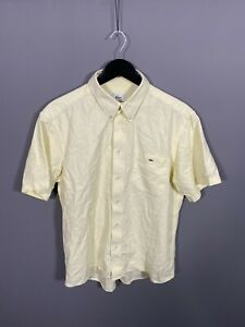 LACOSTE-Short-Sleeve-Shirt-XXL-2XL-Yellow-Great-Condition-Men-s