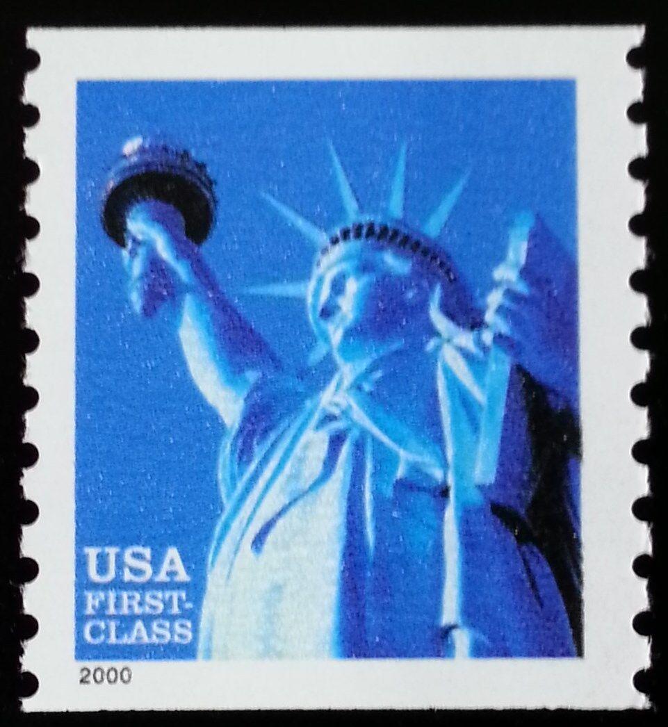 2000 34c Statue of Liberty, Coil, WA Scott 3452 Mint F/