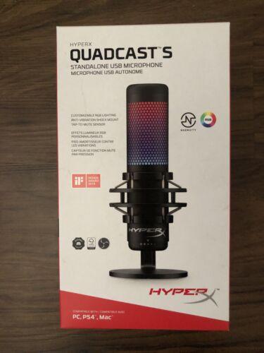 Hyper X QuadCast S RGB USB Condenser Microphone PC PS4 Mac