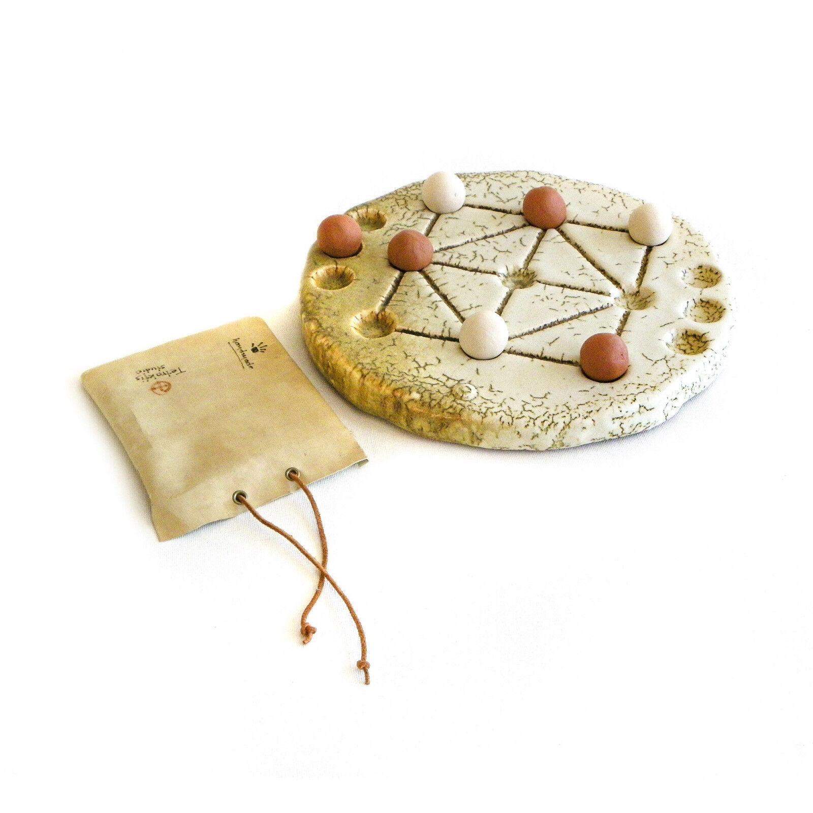 Tic Tac Toe Decorative Board Game - Handmade Ceramic Replica Set 10  Größe