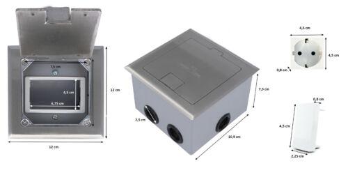 Einbausteckdose für bis zu 3 Livolo 1//2 Einsätze Fußboden Bodentanks versenkbar