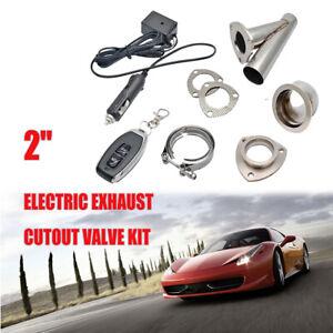 51mm-2-039-039-Telecomando-Elettrico-Valvola-di-Scarico-Marmitta-Ritaglio-Sistema-IT