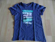 MEXX schönes Shirt blau m. Druck Gr. 122/128 TOP BS1115