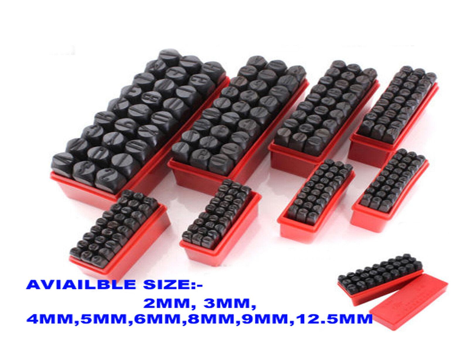 9.5mm 0-9 NUMBER A-Z ALPHABET LETTER Metal Stamp Punch set Tool Die Marker Wood