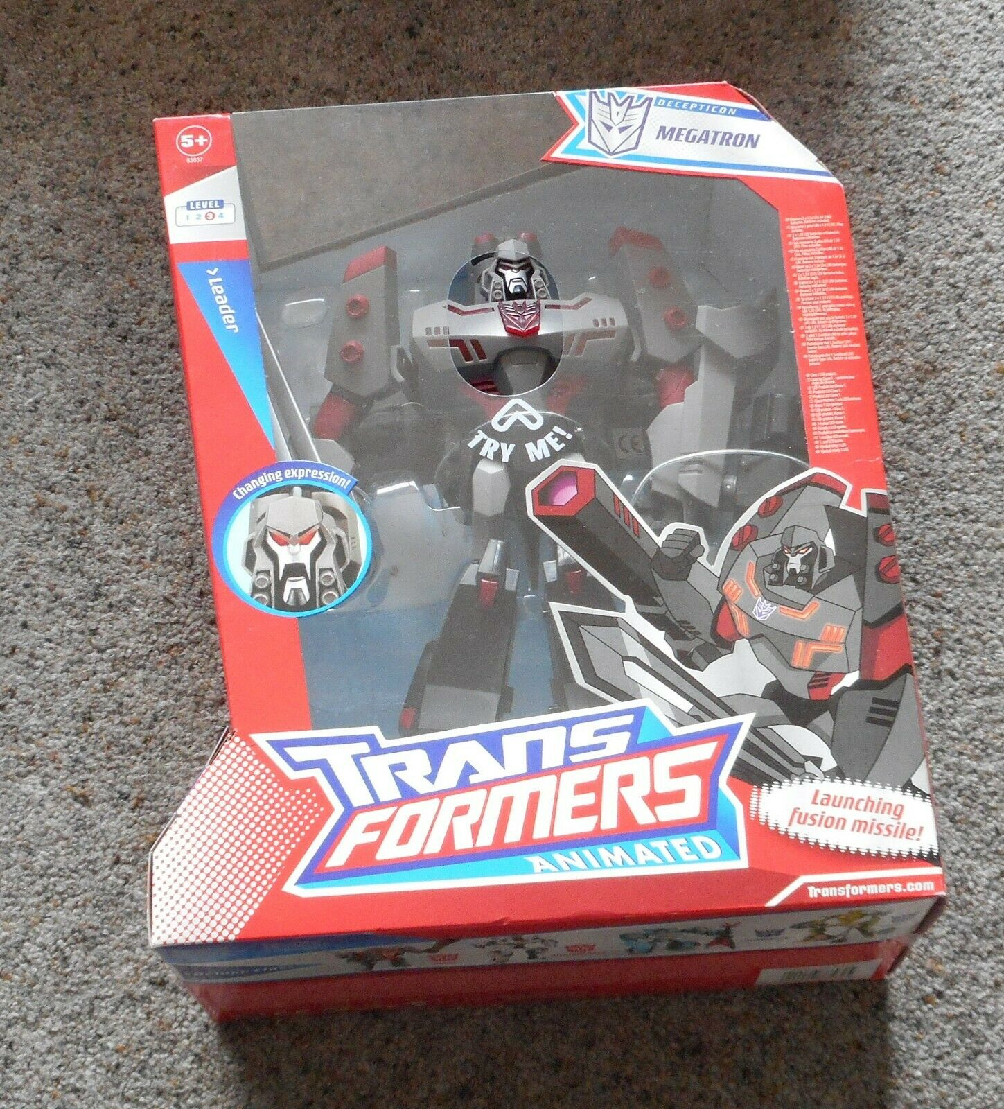 Shadow Blade   MEGATRON    Hasbro Transformers Animated Mint Sealed